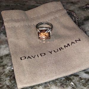 David Yurman 14mm Chatelaine Ring with Morganite